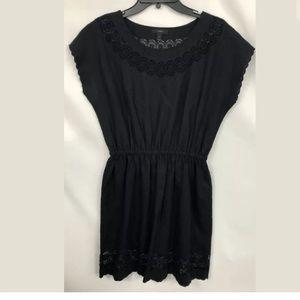 J CREW BLACK LINEN EYELET DRESS 6